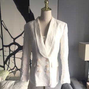 NWOT Theory White Linen Blazer